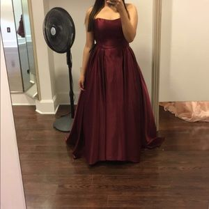 Burgundy dress, only worn once